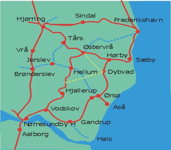 Saebybanen Straekningen Nordjyllands Jernbaner